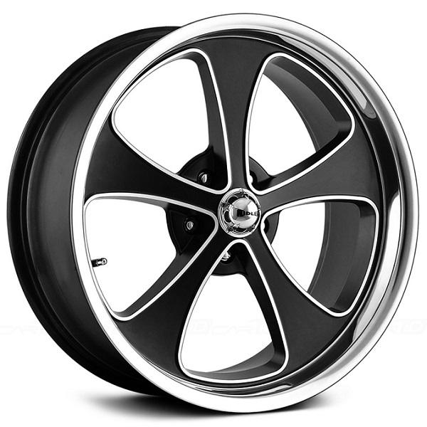 STYLE 645 MATTE BLACK RIM with MACHINED FACE and POLISHED LIP by RIDLER WHEELS