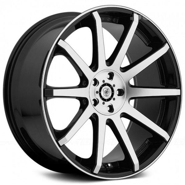 643MB GLOSS BLACK RIM with MACHINED FACE and LIP EDGE by DROPSTARS WHEELS