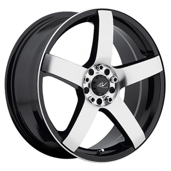 216MB MACH 5 GLOSS BLACK RIM with MACHINED FACE and LIP EDGE by ICW WHEELS