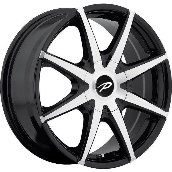 784MB REBEL GLOSS BLACK RIM with MACHINED FACE by PACER WHEELS