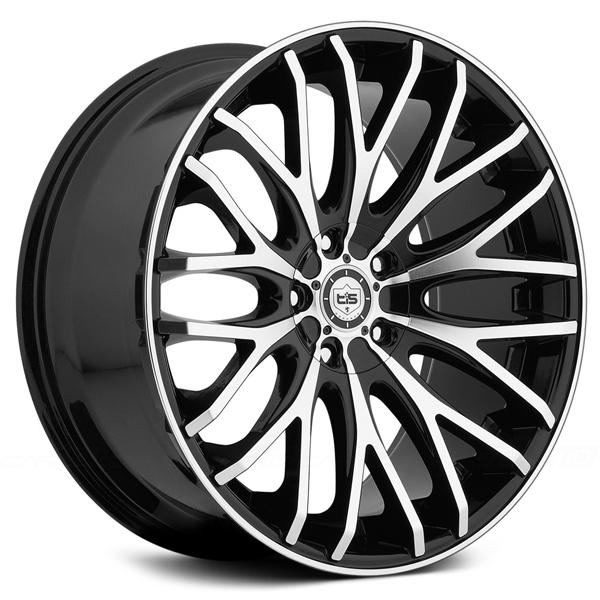 537MB GLOSS BLACK RIM with MACHINED FACE and LIP EDGE by TIS WHEELS