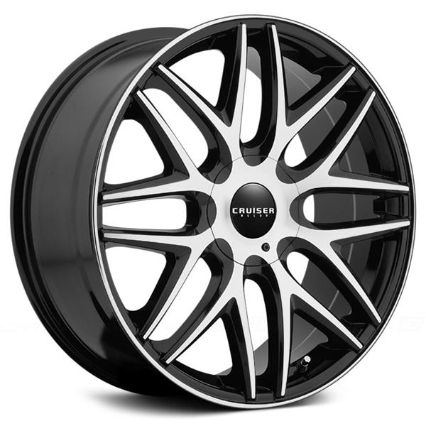 915MB ENDURE GLOSS BLACK RIM with MACHINED FACE and LIP EDGE by CRUISER ALLOY WHEELS