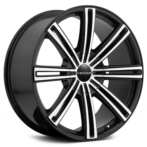 916MB OBSESSION GLOSS BLACK RIM with MACHINED FACE by CRUISER ALLOY WHEELS