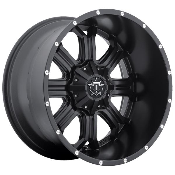 535B SATIN BLACK RIM with CNC MILLED LIP ACCENTS by TIS WHEELS