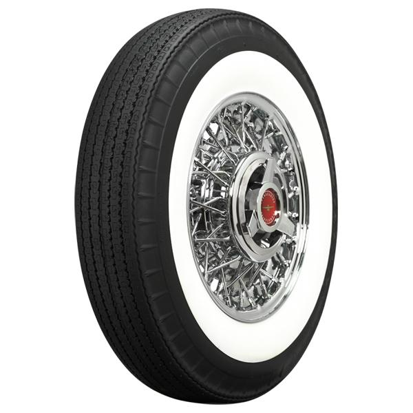 WIDE WHITE WALL STEEL BELTED RADIAL by AMERICAN  CLASSIC TIRE
