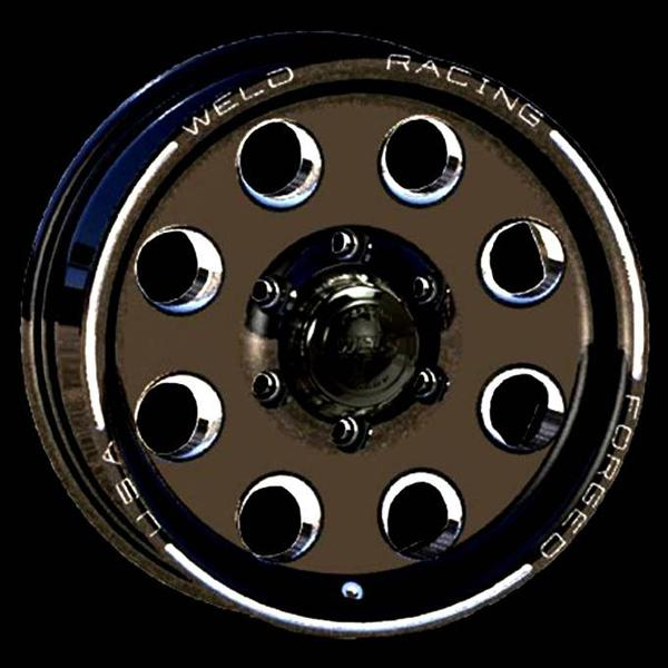 TRAILER R50 BLACK ANODIZED RIM by WELD RACING WHEELS