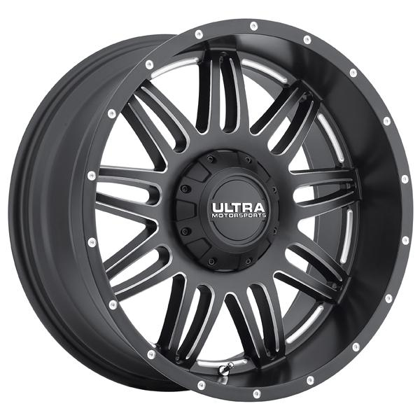 SOLDIER 188 SATIN BLACK RIM with MILLED ACCENTS by ULTRA WHEELS