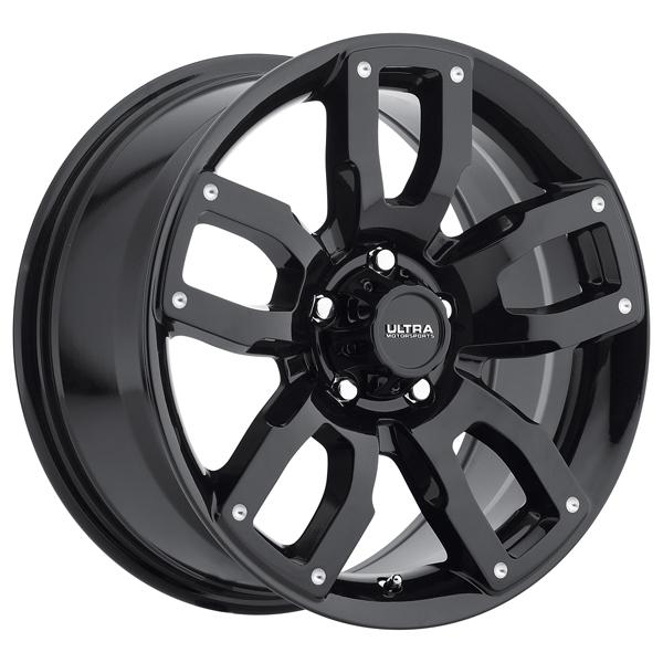 DECOY 251 GLOSS BLACK RIM with MILLED DIMPLES by ULTRA WHEELS