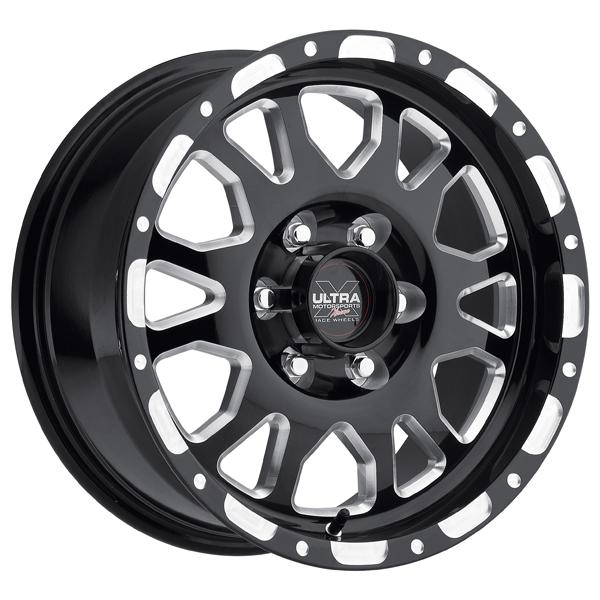 XTREME X100 GLOSS BLACK RIM with MILLED ACCENTS by ULTRA WHEELS