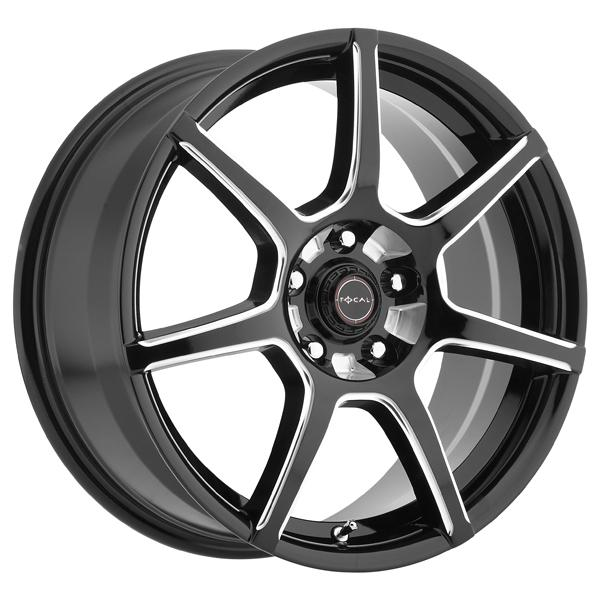 F007 422 GLOSS BLACK RIM with MILLED ACCENTS by FOCAL WHEELS