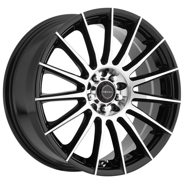 F15 442 GLOSS BLACK RIM with DIAMOND CUT FACE by FOCAL WHEELS