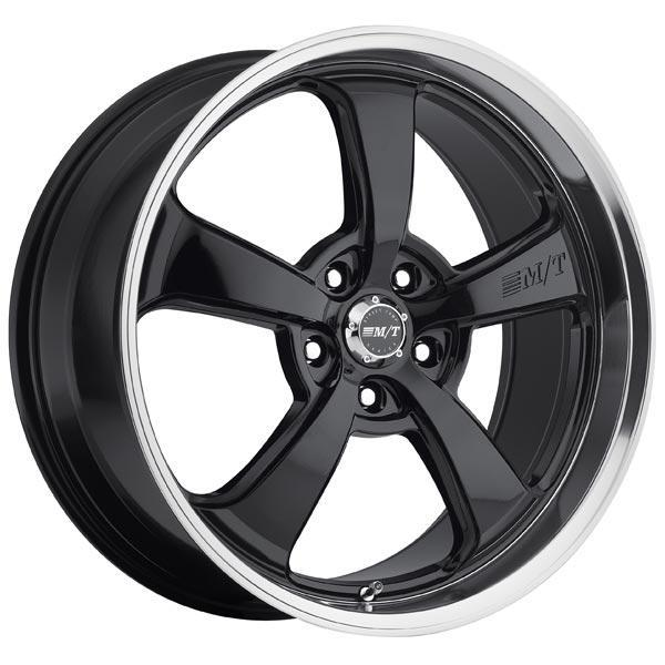 MICKEY THOMPSON STREET COMP SC-5 GLOSS BLACK RIM with MIRROR MACHINED LIP PPT by SPECIAL BUY WHEELS