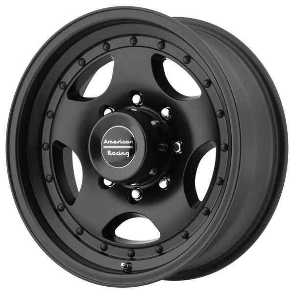 AR23 SATIN BLACK RIM with CLEAR COAT FINISH by AMERICAN RACING WHEELS