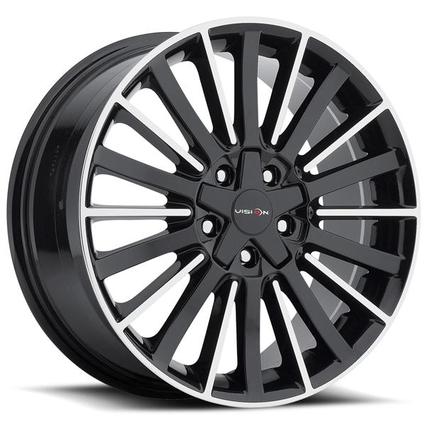 CONDUIT 466 GLOSS BLACK RIM with MACHINED FACE by VISION WHEELS
