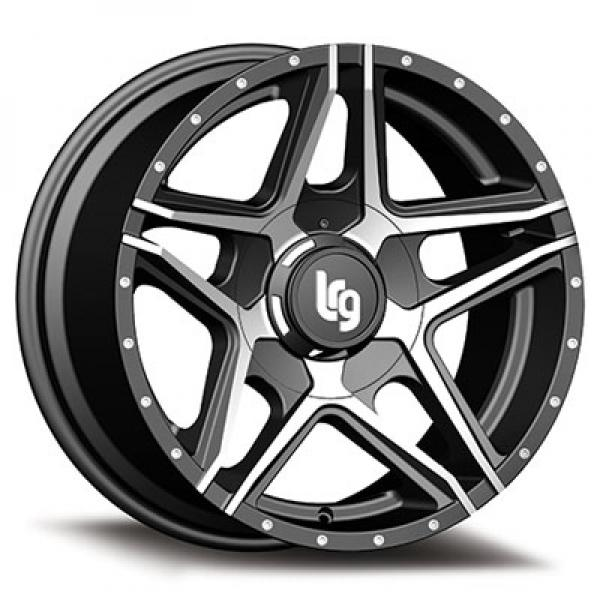 109 PIKE SATIN BLACK RIM with MACHINED FACE by LRG WHEELS