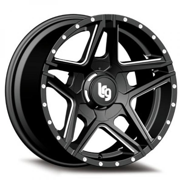109 PIKE BLACK RIM with MILLED SPOKES by LRG WHEELS