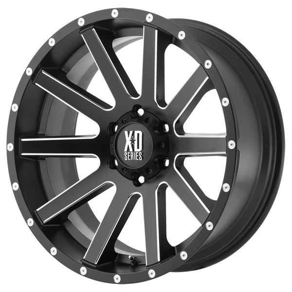 XD818 HEIST SATIN BLACK RIM with MILLED SPOKES by XD SERIES WHEELS