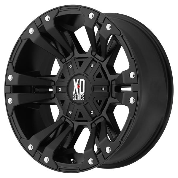 XD822 MONSTER II SATIN BLACK RIM with SATIN BLACK ACCENTS by XD SERIES WHEELS