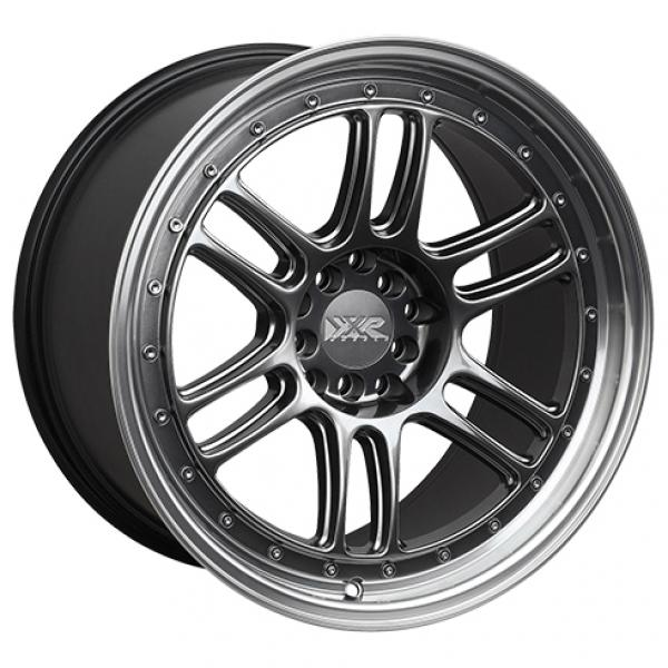 552 CHROMIUM BLACK RIM with MACHINED LIP by XXR WHEELS