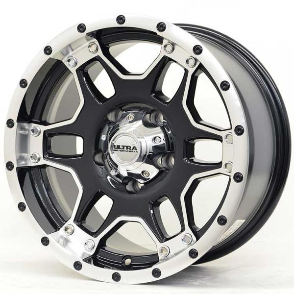 MONGOOSE 178 GLOSS BLACK RIM with DIAMOND CUT ACCENTS by ULTRA WHEELS