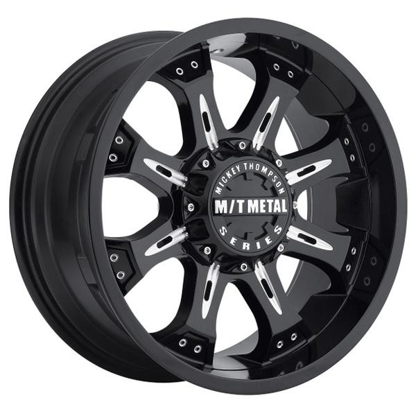 METAL MM-164B PIANO BLACK RIM with MILLED ACCENTS by MICKEY THOMPSON WHEELS