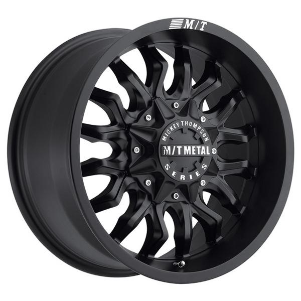 METAL MM-489 FLAT BLACK RIM by MICKEY THOMPSON WHEELS