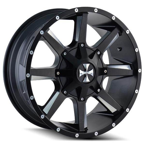 BUSTED 9100 SATIN BLACK RIM with MILLED SPOKES by CALI OFF-ROAD WHEELS