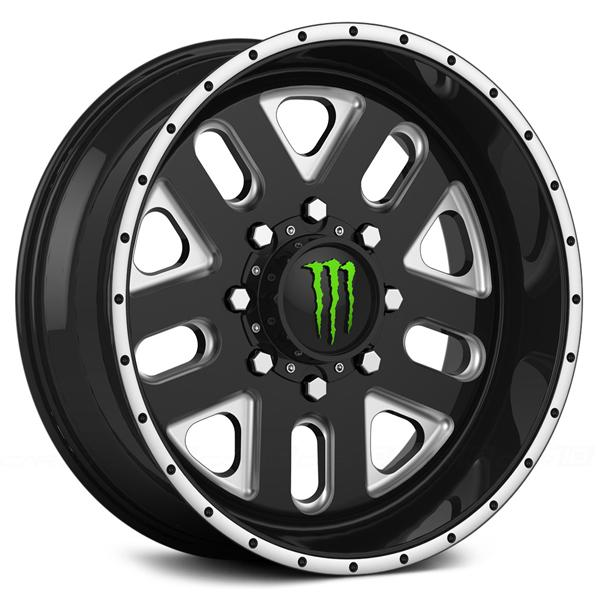 MONSTER ENERGY 539BM BLACK RIM with MILLED ACCENTS by MONSTER WHEELS