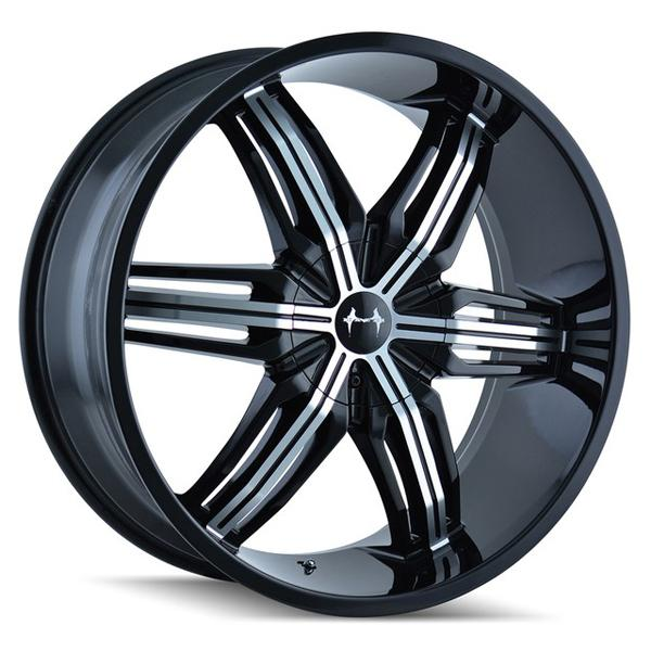 RUSH 792 BLACK RIM with MACHINED FACE by MAZZI WHEELS