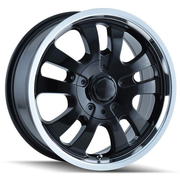 AVENGER D10 BLACK RIM with MACHINED LIP by DIP WHEELS