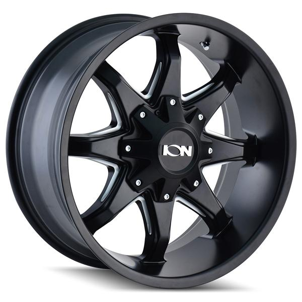 TYPE 181 SATIN BLACK RIM with MILLED SPOKES by ION ALLOY WHEELS
