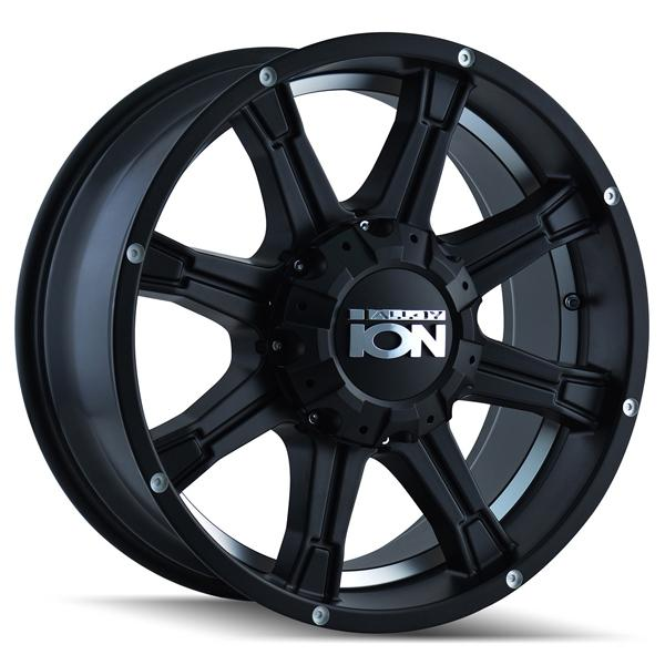 TYPE 196 MATTE BLACK RIM with MACHINED UNDERCUT by ION ALLOY WHEELS