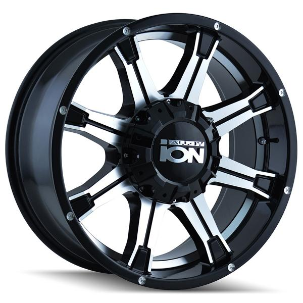 TYPE 196 BLACK RIM with MACHINED FACE and UNDERCUT by ION ALLOY WHEELS