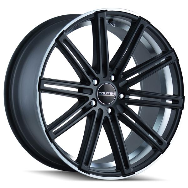 TR40 MATTE BLACK RIM with MACHINED RING and UNDERCUT by TOUREN WHEELS