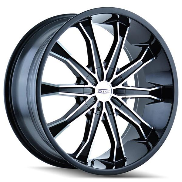 MORTAR D99 BLACK RIM with MACHINED FACE by DIP WHEELS