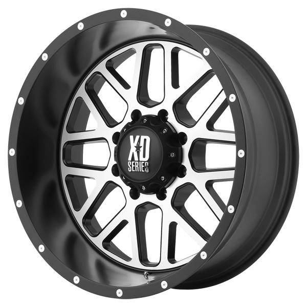 XD820 GRENADE SATIN BLACK RIM with MACHINED FACE by XD SERIES WHEELS