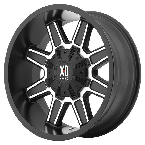 XD823 TRAP SATIN BLACK RIM with MACHINED FACE by XD SERIES WHEELS