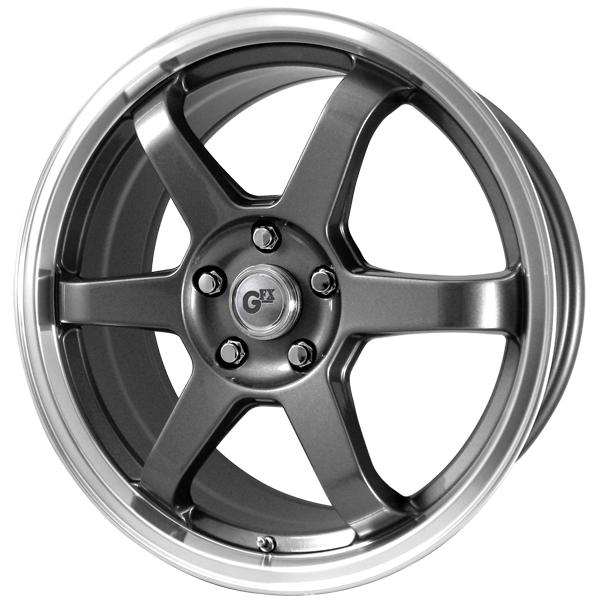 GFX G65 GUNMETAL RIM with MACHINED LIP by SPECIAL BUY WHEELS