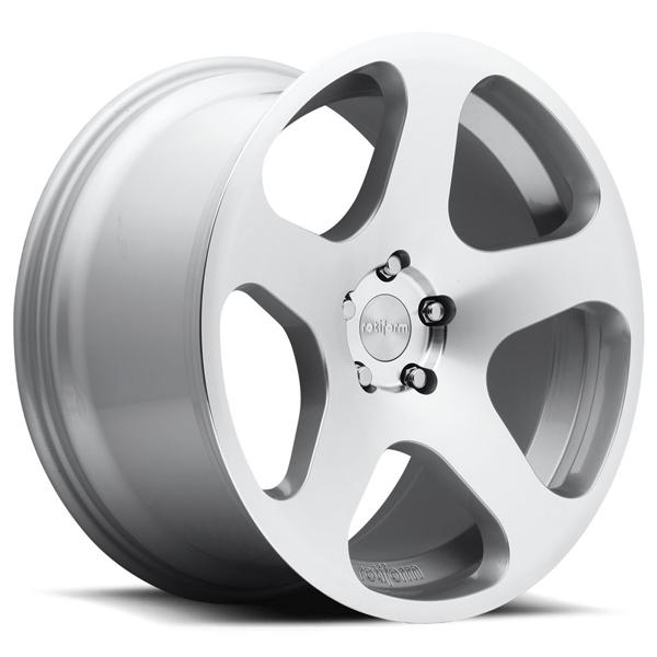 NUE R115 SILVER MACHINED RIM by ROTIFORM CAST COLLECTION