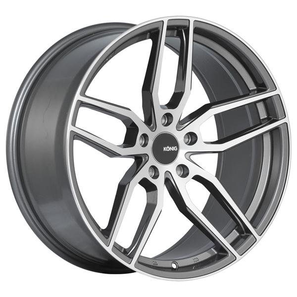 INTERFORM GRAPHITE RIM with MACHINED FACE by KONIG WHEELS