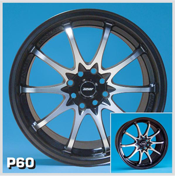 ZOOM P60 BLACK RIM with MACHINED FACE by SPECIAL BUY WHEELS