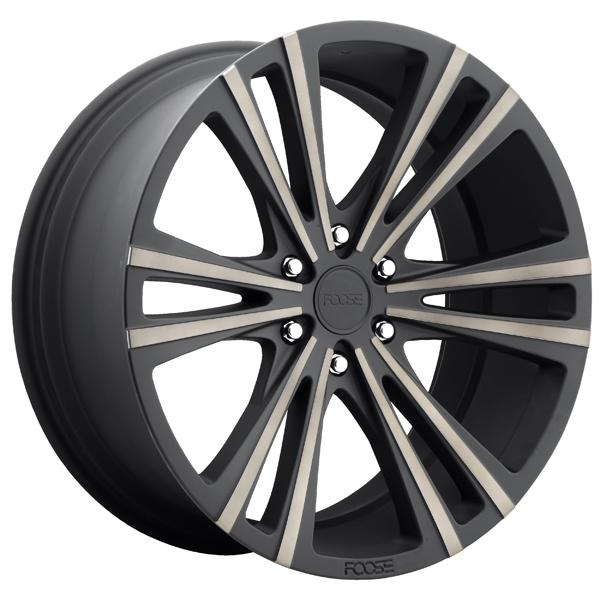 WEDGE F160 MATTE BLACK RIM with MACHINED FACE DDT by FOOSE WHEELS