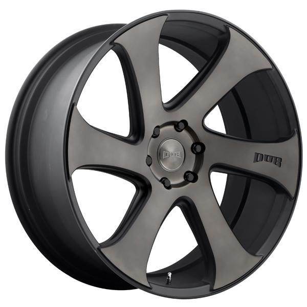 SWERV S137 BLACK RIM with MACHINED FACE DDT by DUB WHEELS