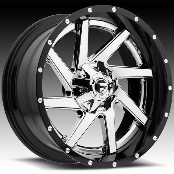 RENEGADE D263 CHROME and GLOSS BLACK RIM by FUEL TWO-PIECE SERIES
