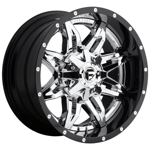 LETHAL D266 CHROME and GLOSS BLACK RIM by FUEL TWO-PIECE SERIES