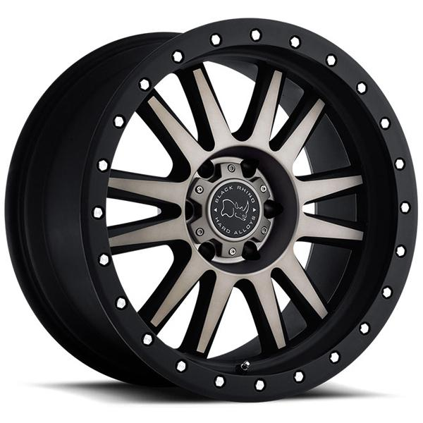 TANAY MATTE BLACK RIM with MACHINED FACE and DARK MATTE TINT by BLACK RHINO WHEELS