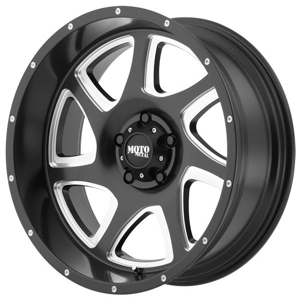 MO976 SATIN BLACK RIM with MILLED ACCENTS by MOTO METAL WHEELS