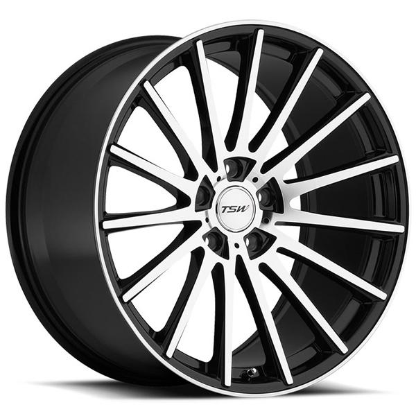 CHICANE GLOSS BLACK RIM with MIRROR CUT FACE by TSW WHEELS