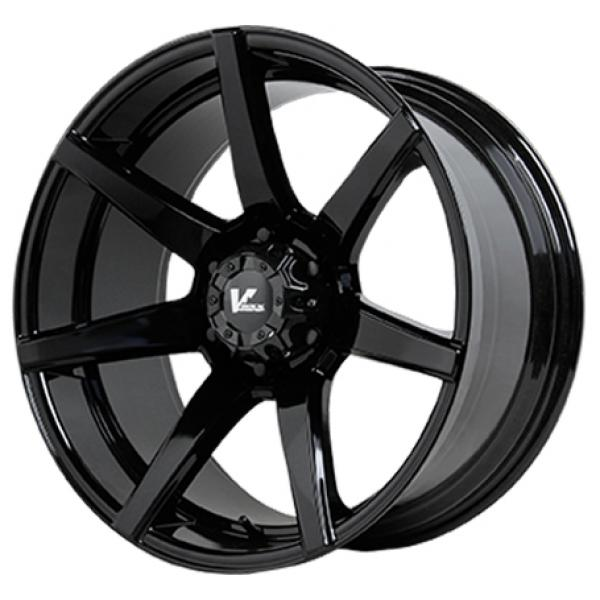 VR8 EXTRACTOR GLOSS BLACK RIM by V-ROCK WHEELS