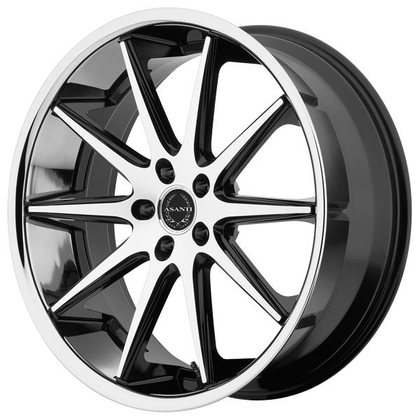 ABL-4 MACHINED FACE RIM with SS LIP by ASANTI WHEELS